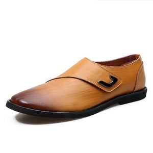 Business Designer Genuine Leather Flat Oxford Shoe-men-wanahavit-Light brown-7-wanahavit