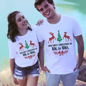 Our First Christmas Together Matching Couple Tees-unisex-wanahavit-N718-MSTWH-S-wanahavit