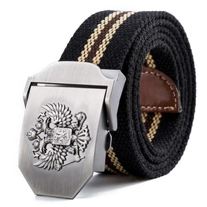 Russian National Emblem Canvas Tactical Belt-men-wanahavit-St George-110CM-wanahavit
