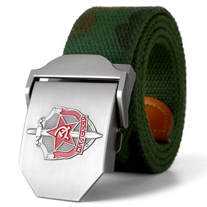 3D Soviet Glory KGB Canvas Military Canvas Belt-men-wanahavit-Camo-110CM-wanahavit