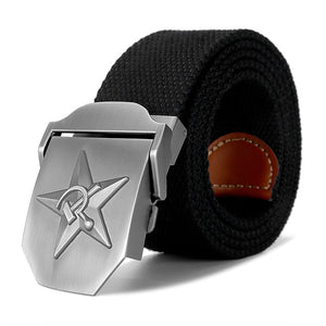 3D Soviet Labor Venus CCCP Canvas Belt-men-wanahavit-Black-110CM-wanahavit