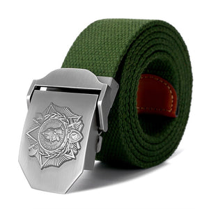 Soviet Alexander Nevsky Badge 3D Canvas Belt-men-wanahavit-Army Green-130cm-wanahavit