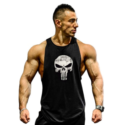 Punisher Fitness Tank Top-men fitness-wanahavit-Black Punisher-M-wanahavit