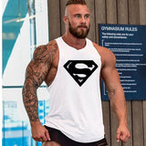 Punisher Fitness Tank Top-men fitness-wanahavit-White Superman-M-wanahavit