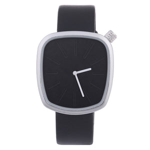 Luxury Irregular Shaped Wristwatch-unisex-wanahavit-black band silver-wanahavit