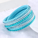 Fashion Multilayer Rhinestone Leather Crystal Wrap Bracelet-women-wanahavit-Light Blue-wanahavit