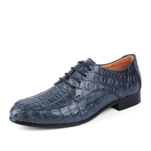 Reptile Skin Textured Genuine Leather Oxford Shoes-men-wanahavit-blue-5-wanahavit