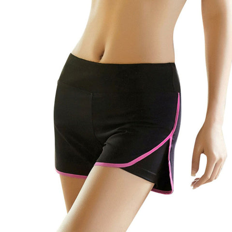 Quick Dry Side Slit Elastic Sports Shorts