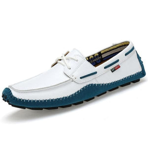Italian Genuine Leather Designer Slip On Loafer Shoes-men-wanahavit-Style1 White Loafers-5-wanahavit