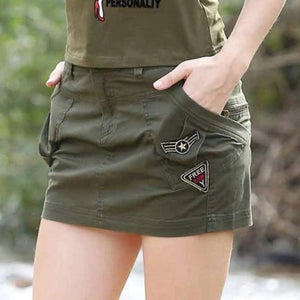 Military Army Cotton Sexy Mini Pencil Skirts-women-wanahavit-ARMY GREEN-S-wanahavit