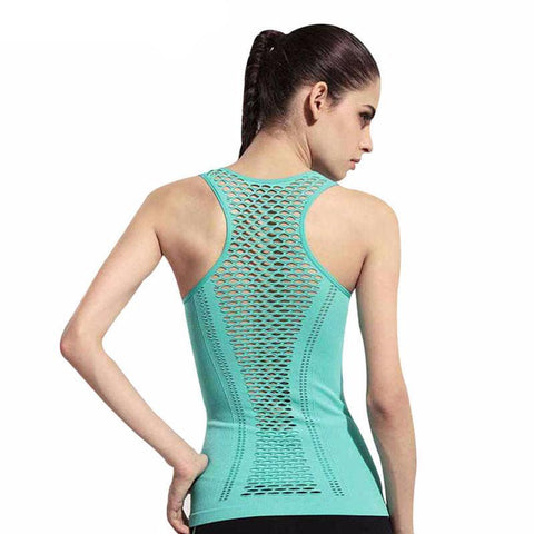 Meshed Back Yoga Sleeveless Shirt