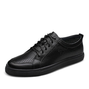 Breathable Genuine Cowhide Leather Flat Shoes-men-wanahavit-black-6-wanahavit