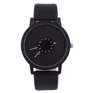 Creative Unique Dial Wristwatch-unisex-wanahavit-Black-wanahavit