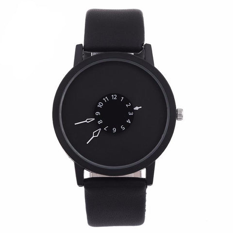 Creative Unique Dial Wristwatch-unisex-Black-wanahavit