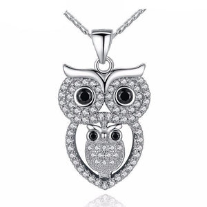Vintage Owl with AAA Austrian Zircon Pendant Necklace-women-wanahavit-wanahavit