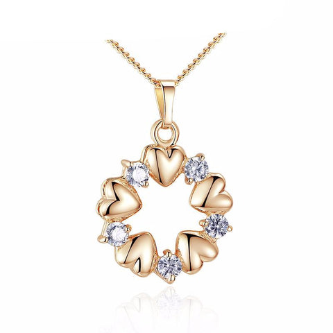 Luxury Gold Color Heart Necklace-women-wanahavit-wanahavit