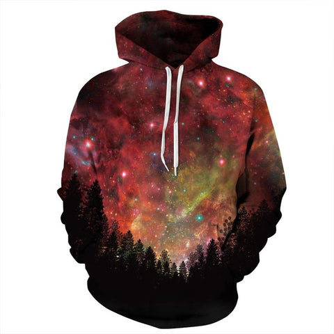 View at the Forest of Universe 3D Sweatshirt Hoody