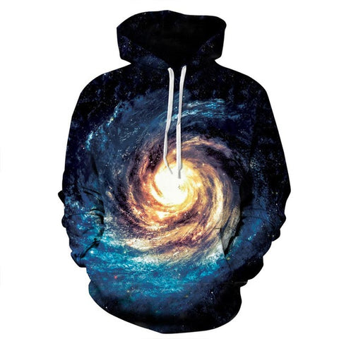 Milky Way Galaxy 3D Sweatshirt Hoody
