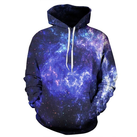 Black and Blue  Universe 3D Sweatshirt Hoody