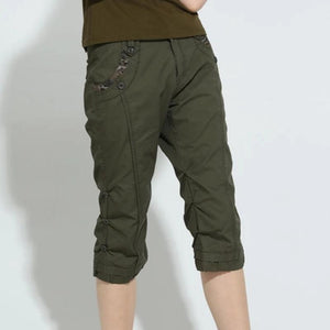Army Slim Fit Knee Length Designer Pants-unisex-wanahavit-Army Green-26-wanahavit