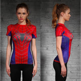 Marvel Superheroes Compression Shirt-women fitness-wanahavit-Spiderwoman-XXL-wanahavit