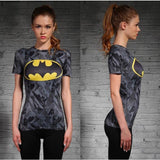 DC Superheroes Compression Shirt-women fitness-wanahavit-Batwoman 2-XXL-wanahavit
