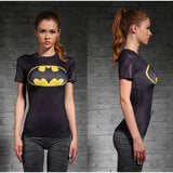 DC Superheroes Compression Shirt-women fitness-wanahavit-Batwoman 1-XXL-wanahavit