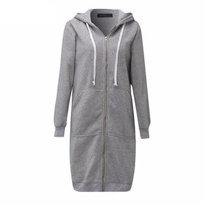 Long Autumn Zip Up Hooded Jacket-women-wanahavit-Gray-S-wanahavit