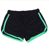 Yo-Ga Drawstring Casual Loose Cotton Shorts-women fitness-wanahavit-black green-L-wanahavit