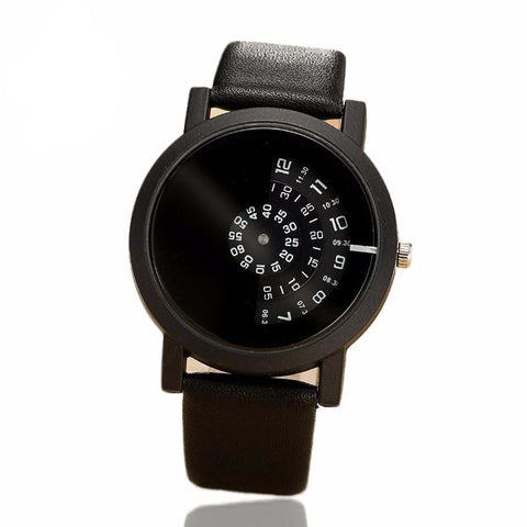 Create Digital Disc Handed Watch-unisex-All black-wanahavit