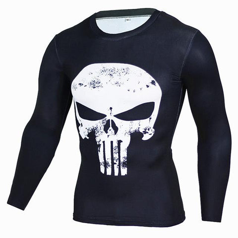 Superheroes Suit Compression Long Sleeve Shirts #punisher