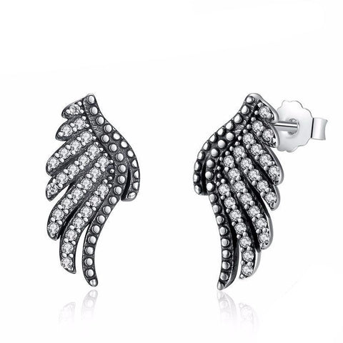 925 Sterling Silver Phoenix Feather Earring-women-wanahavit-wanahavit