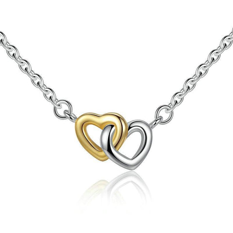 925 Sterling Silver United in Love Silver Necklace