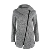 Winter Warm Fleece Slant Zippered Jacket-women-wanahavit-S-wanahavit