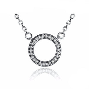 925 Sterling Clear Round Shape Pendant Necklaces-women-wanahavit-wanahavit