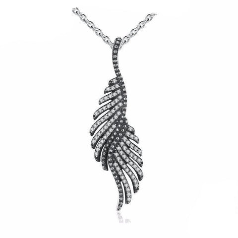 925 Sterling Silver Phoenix Feather Silver Necklace