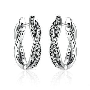 925 Sterling Silver Twist Of Fate Stud Earring-women-wanahavit-wanahavit