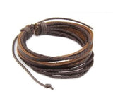 Leather Braided Rope Bracelets-unisex-wanahavit-2 Brown-wanahavit