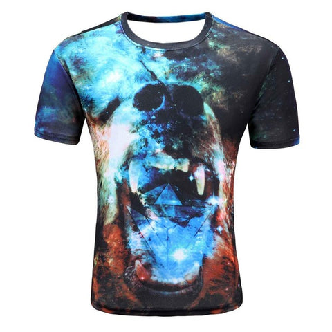 Colorful 3D Printed High Quality Tees #bear