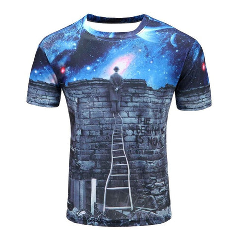 Colorful 3D Printed High Quality Tees #ladder1-men-wanahavit-XXL-wanahavit