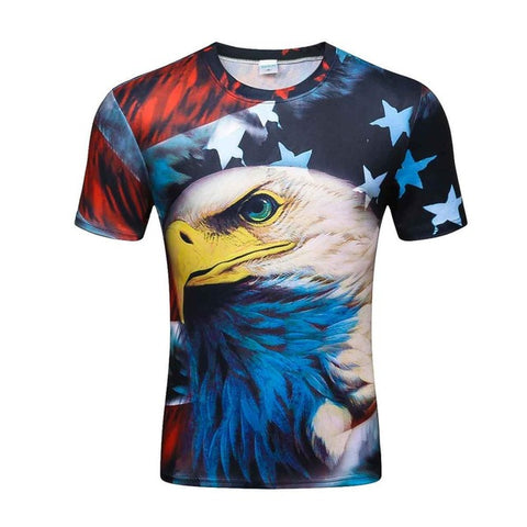 Colorful 3D Printed High Quality Tees #america-men-wanahavit-XXL-wanahavit