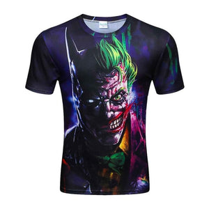 Colorful 3D Printed High Quality Tees #batmanjoker-men-wanahavit-M-wanahavit