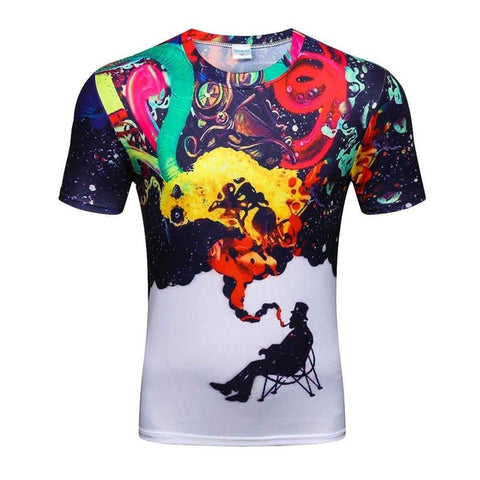 Colorful 3D Printed High Quality Tees #smoke