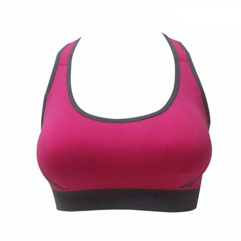 2 Color Contrast Padded Sports Bra