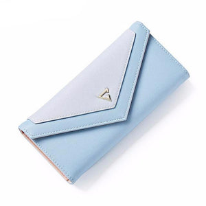 Geometric Envelope PU Leather Clutch Wallet-women-wanahavit-Blue-wanahavit