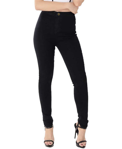 Skinny High Waist Pencil Stretchable Jeans-women-wanahavit-Black-L-wanahavit