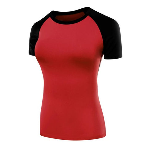 Quick Dry Compression Shirts-women fitness-Red-XXL-wanahavit