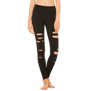 Hollow Hole Sporting Fitness Leggings-women fitness-wanahavit-Black-S-wanahavit