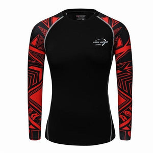 3D Print Muscle Compression Tight Long Sleeve Shirt-women fitness-wanahavit-9-M-wanahavit