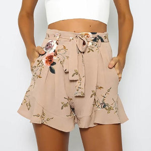 Summer Beach Floral Print Mini Shorts-women-wanahavit-S-wanahavit